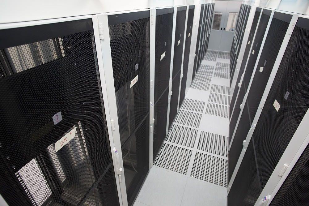 Serverschränke im Rechenzentrum IT- und Data Center der LINZ AG TELEKOM