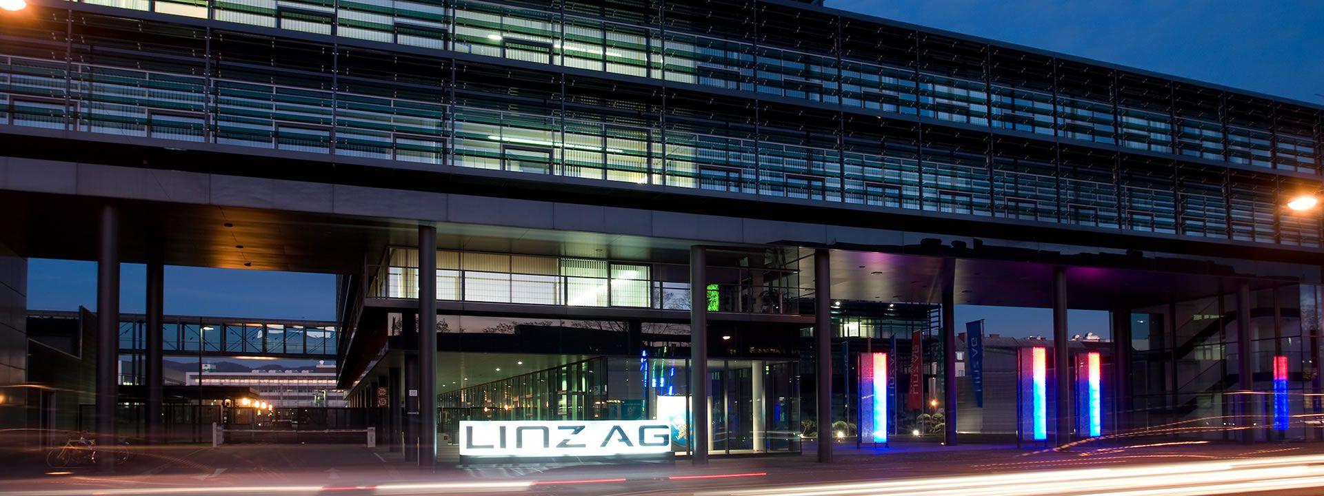 Gebäudefassade der LINZ AG TELEKOM Wiener Straße 151, Linz