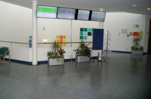Die Digital Signage-Lösung auf einem Standort im Kepler Universitätsklinikum Linz
