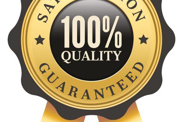 Gütesiegel für 100 %-ige Qualität und garantierter Zufriedenheit.